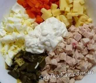 Салат святковий букет