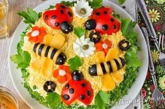 Детский день рождения салаты