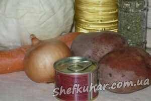Тушкована капуста з картоплею
