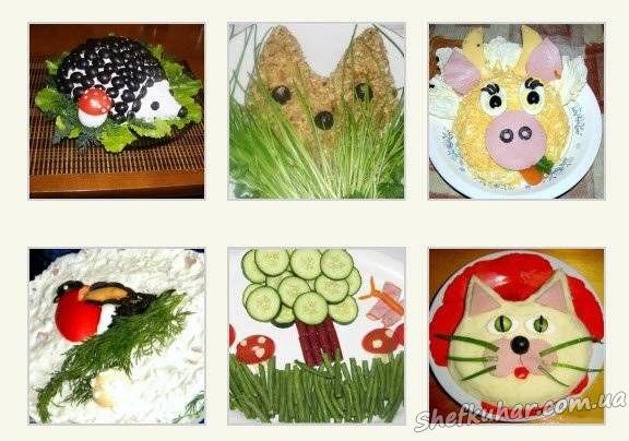 салати святкові рецепти з фото з курки