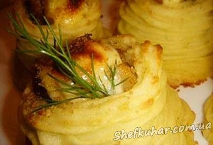 Смачні картопляні гніздечка
