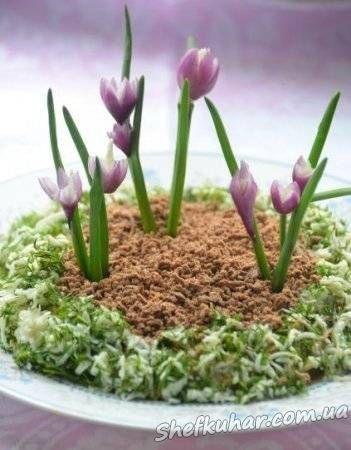 Весняний салат з пролісками