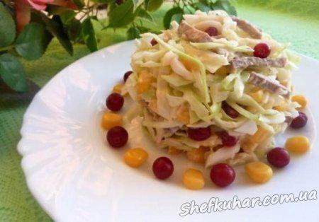 Салат з відварним язиком