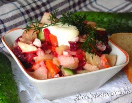 Осінній салат з буряком