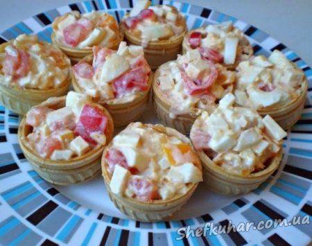 Тарталетки з салатом