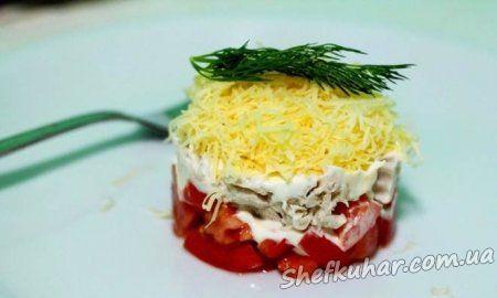 Салат з куркою і томатами