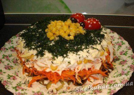 Святковий салат Галявина