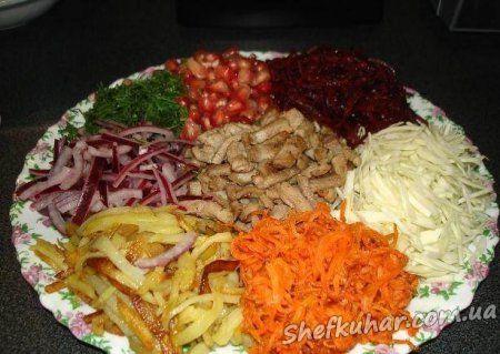Святковий салат Калейдоскоп