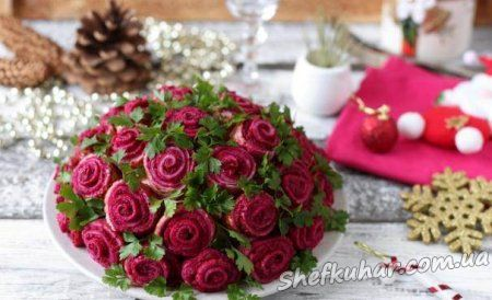 Салат Букет троянд