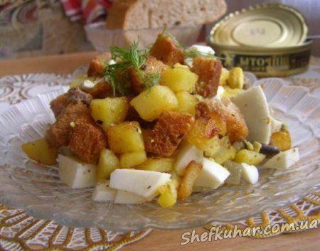 Швидкий салат зі шпротами