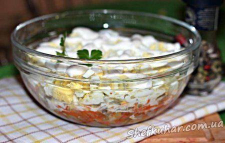Салат з курячих шлунків