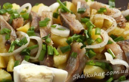 Картопляний салат з оселедцем