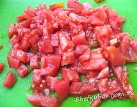 Теплий салат з баклажанів