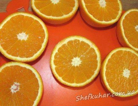 Святковий крабовий салат в апельсині