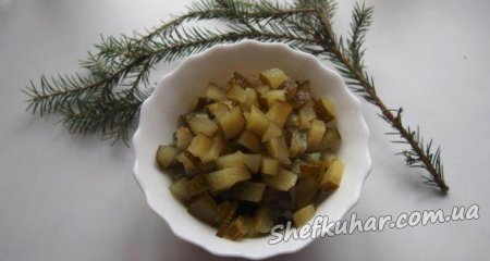 Святковий салат шапка Діда Мороза