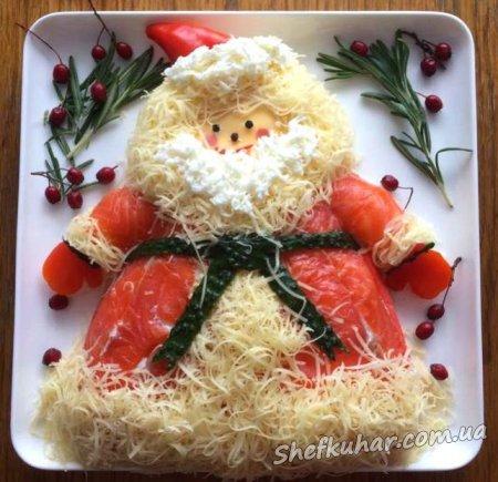 Новорічний салат Дід Мороз