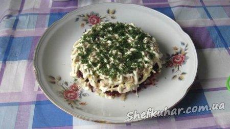 Святковий салат Шапка Мономаха