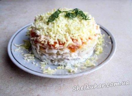 Святковий салат Мімоза