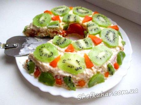 Святковий салат Малахітовий браслет