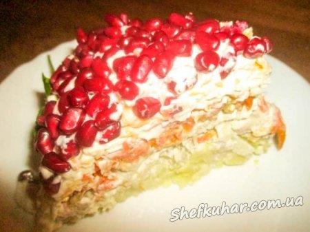 Святковий салат Червона Шапочка