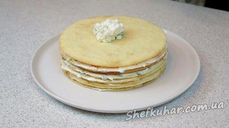 Святковий закусочний торт на День народження