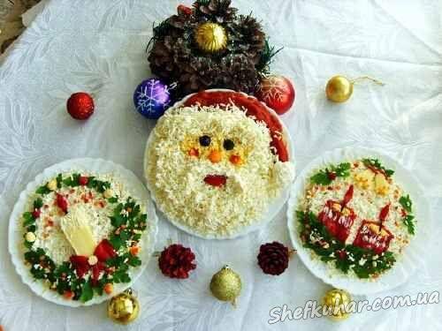 Фото рецепты салаты на новый год