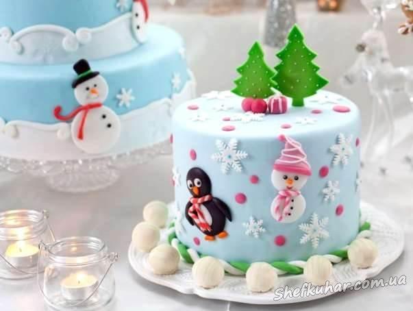 Торт на Новий рік 2018