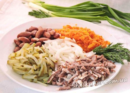 Святковий салат на День закоханих
