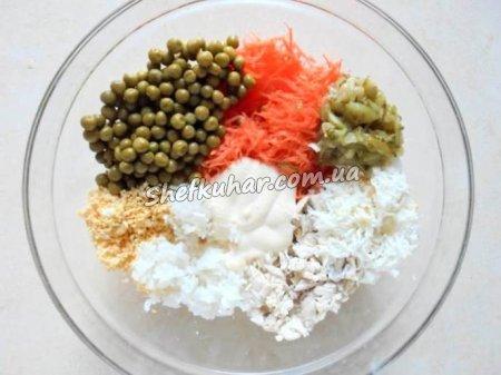 Святковий салат Мавпочка