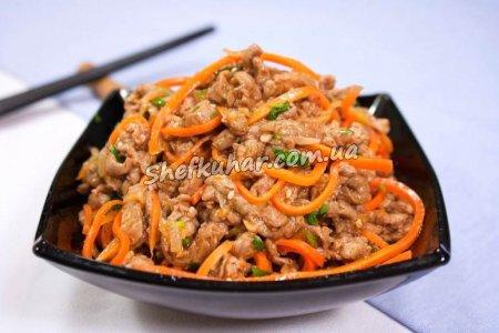 Корейський салат з соєвого м'яса