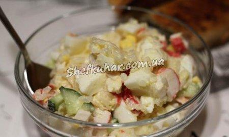 Класичний салат з крабовими паличками