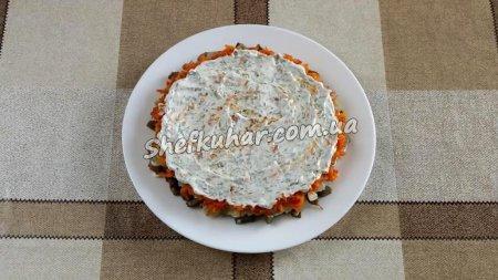 Листковий салат з баклажанів та помідорів