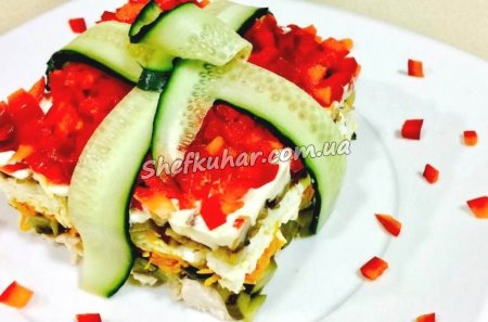 Рецепт святкового салату