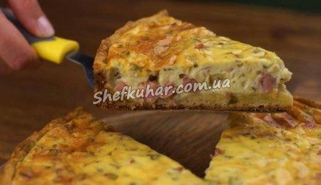 Відкритий пиріг з м'ясом