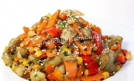 Салат з баклажанів і овочами