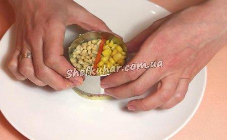 Салат зі шпинатним соусом