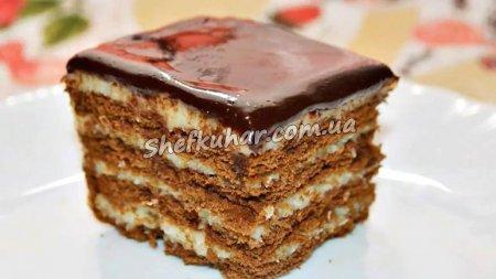 Швидкий торт без випічки з кокосовим кремом