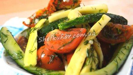 Швидкі малосольні овочі в пакеті