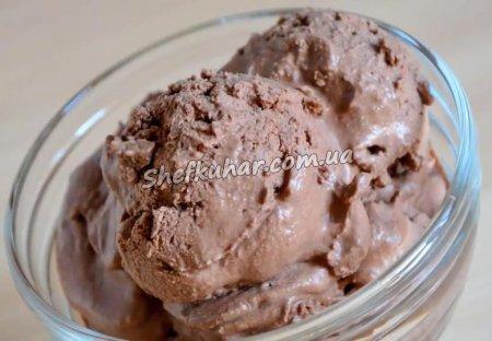 Шоколадне морозиво із 3 інгредієнтів