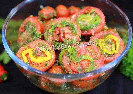Мариновані помідори в пакеті