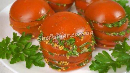 Закуска з маринованих помідорів за 5 хвилин