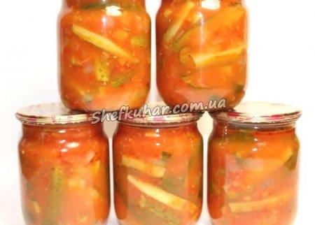 Огірки в томатному маринаді на зиму