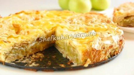 Швидкий яблучний пиріг з лаваша