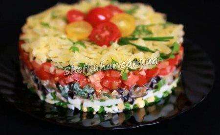 Шалений салат з баклажанами