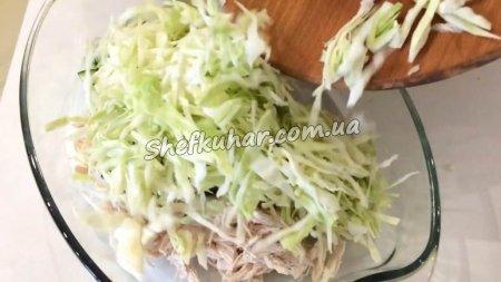 Салат з куркою в кошиках