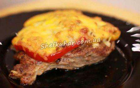 Святкова вечеря - м'ясо під грибами