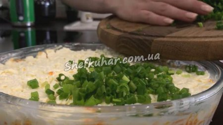 Грибний салат з шинкою