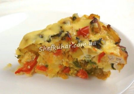 Пиріг з куркою і овочами