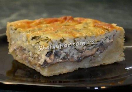 Пиріг з грибами і сиром
