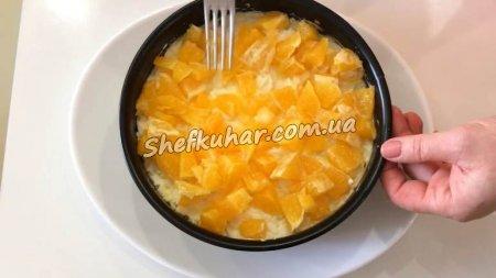 Святковий салат с апельсинами і куркою
